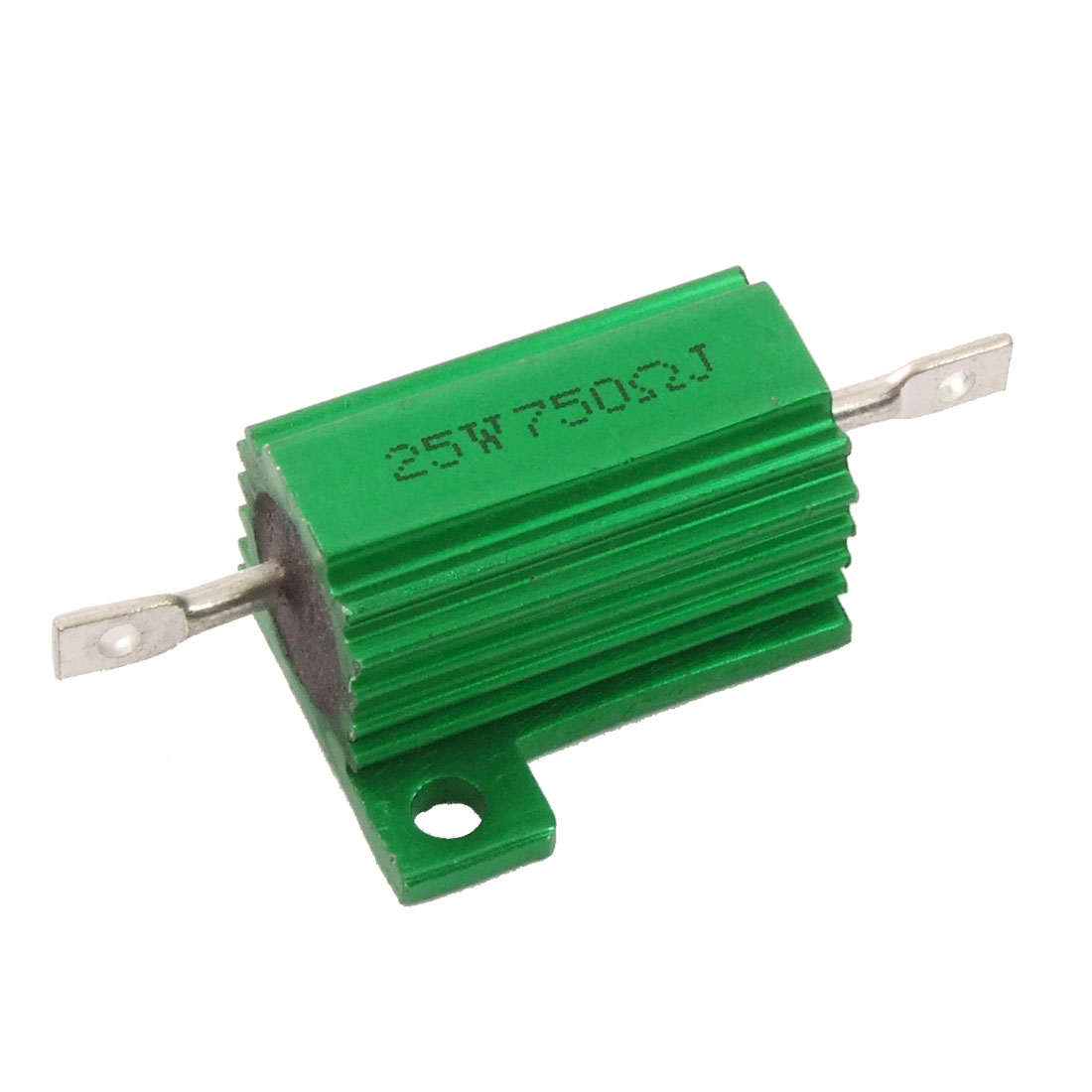 Chassis Mounted 25W 750 Ohm 5% Aluminum Case Wirewound Resistor