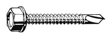 1//4 Head Dia 410 Stainless Steel FABORY 3//4 Self Drilling Screw with Hex Washer Head Type