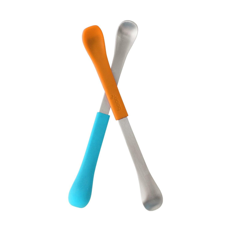 Boon SWAP 2-IN-1 Feeding Spoon Teal & Yellow (2pk) by Boon