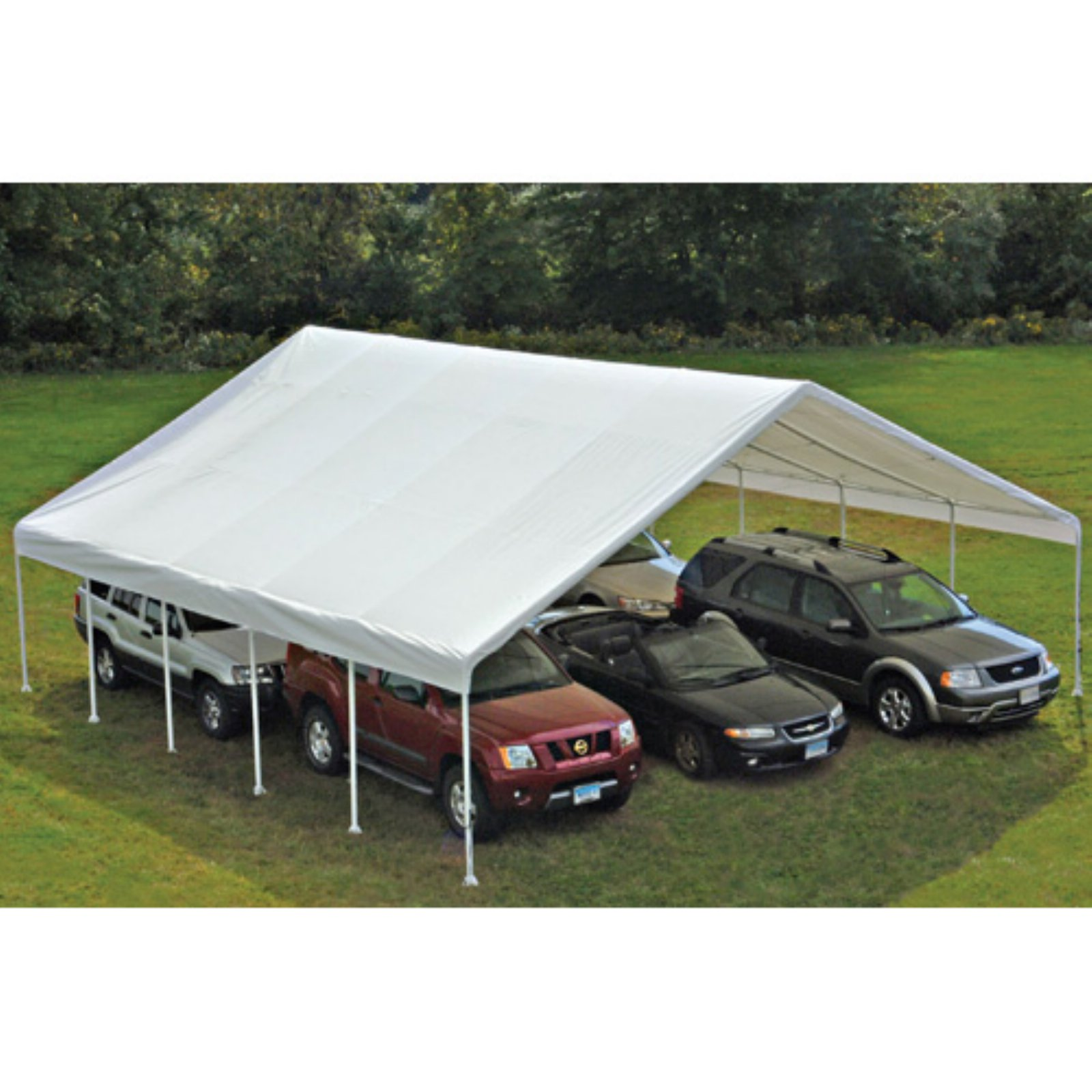 ShelterLogic Ultra Max 30' x 50' White Industrial Canopy
