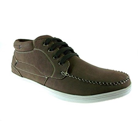 Delli Aldo Men's 502-Brown Low Cut Stitched