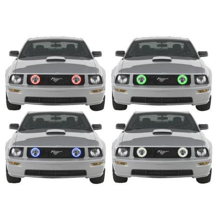 Flashtech LED RGB Multi Color Halo Ring Fog Light Kit For Ford Mustang 05-09 V.3 Fusion Color Change Lbl Lighting Fusion Kit