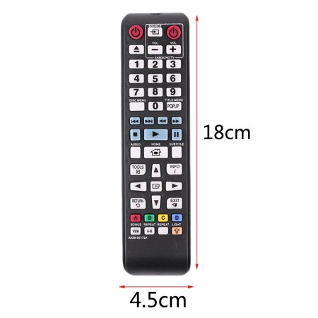 Upgraded Original Smart Intelligent Remote Control AK59-00172A Universal  For DVD Blu-Ray Player BD-F5700 For Samsung, Black