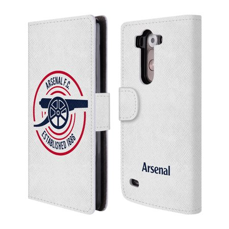 OFFICIAL ARSENAL FC 2018/19 CREST AND GUNNERS LOGO LEATHER BOOK WALLET CASE COVER FOR LG PHONES 2