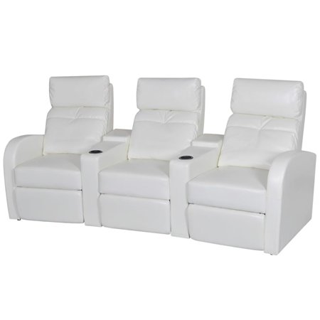 Artificial Leather Home Cinema Recliner Reclining Sofa 3-seat (Springs For Recliners)