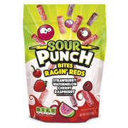 Sour Punch Bites Chewy Ragin' Reds Candies 9 oz Standup Bag
