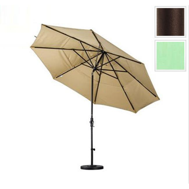 11 ft. Aluminum Market Umbrella Collar Tilt Double Vents - Bronze - Pacifica - Spa
