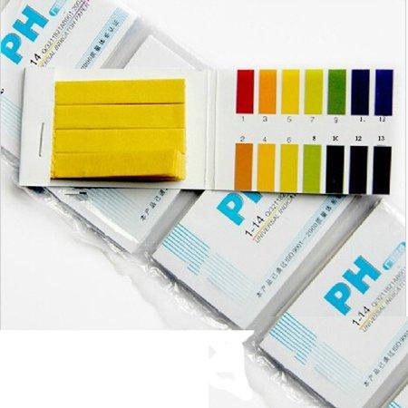 Mosunx 160 Litmus Paper Test Strips Alkaline Acid pH Indicator Testing Kit (Dishwasher Test Strips 160)