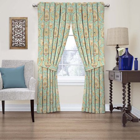 Waverly Clifton Hall Floral Window Curtain Opal 63l X