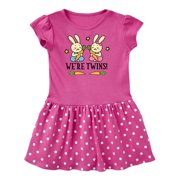 Twin Boy And Girl Bunny Gift Toddler Dress