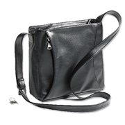 Beretta 70558 Black Leather Women's Concealed Carry Bag w/ Pocketed Holster