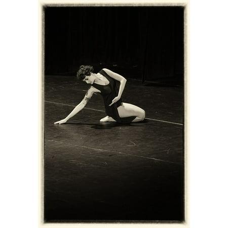 Canvas Print Retro Picture Theater Old Dance Movement Stretched Canvas 10 x - Theatre Movement