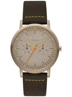 Men's Ted Baker Brit Multifunction Brown Fabric Strap Watch TE50274002
