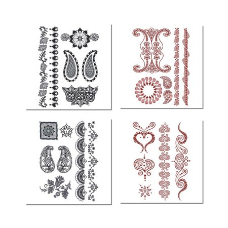 Henna Temporary Tattoo Pack 48 count