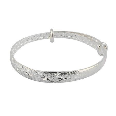 Silver Tone Metal Bracelet (Women Metal Starry Sky Design Adjustable Bracelet Jewelry Silver Tone)