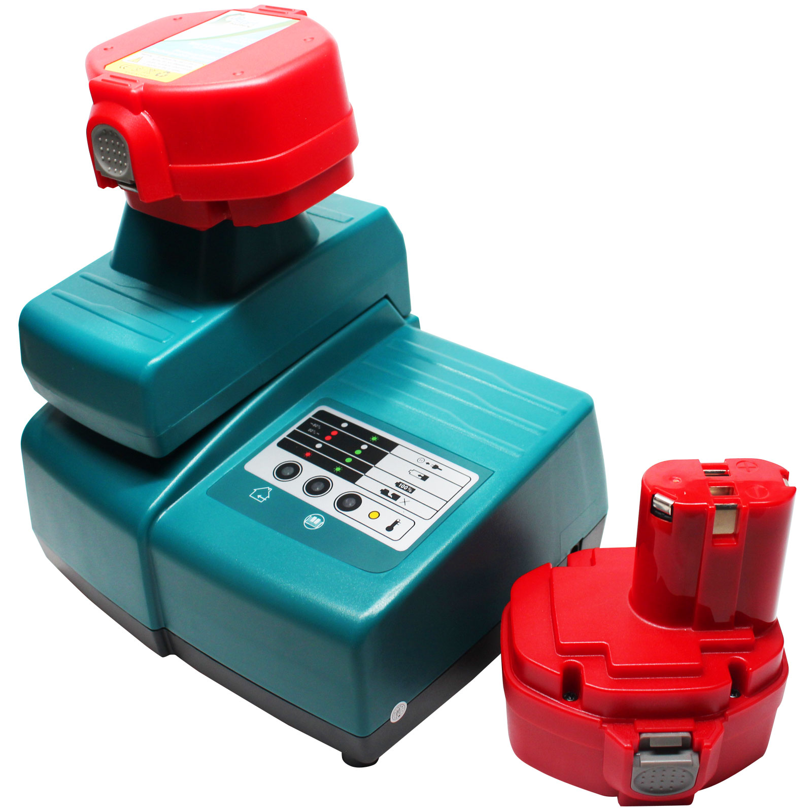 2 Pack Makita 6337d Battery Universal Charger For