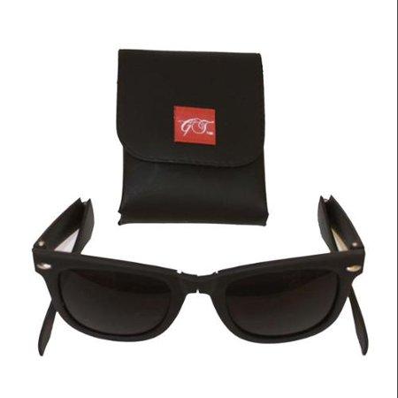 Foldable Matte Black Sunglasses + GT (Foldable Sunglasses Cheap)