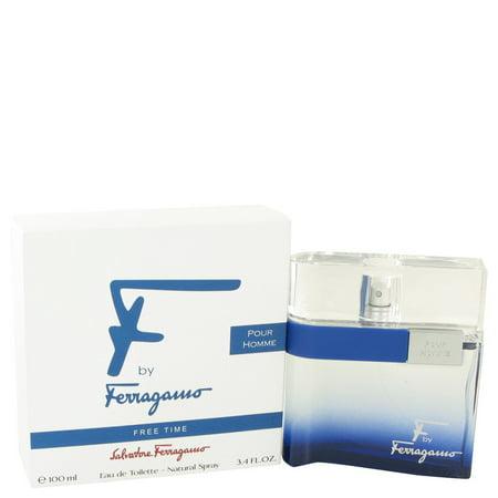 F Free Time by Salvatore Ferragamo Eau De Toilette Spray 3.4 oz-100 ml- eb1b7ffc9c