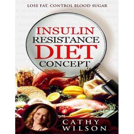 Insulin Resistance Diet Concept: Lose Fat Control Blood Sugar -