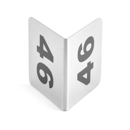 Restaurant Stainless Steel Free-standing Number 46 Table Sign Black Silver Tone - image 2 de 3