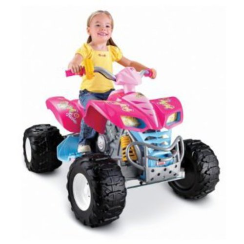 Fisher-Price Power Wheels Pink Barbie KFX 12-Volt Battery-Powered Ride-On