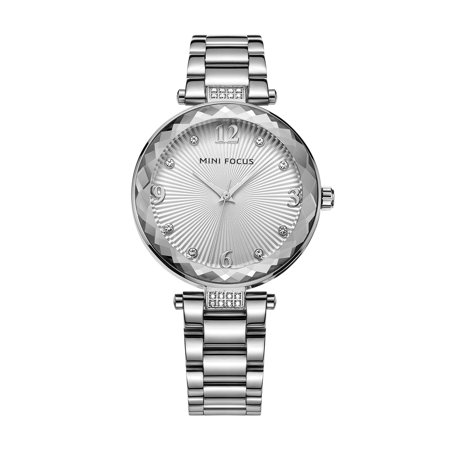 Womens Quartz Watch Silver Dial Solid Steel Belt Special Charming Time for Friends Lovers Best Holiday Gift