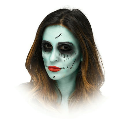 Dead Dolly Halloween Makeup Kit By Fun World - Realistic Zombie Makeup For Halloween