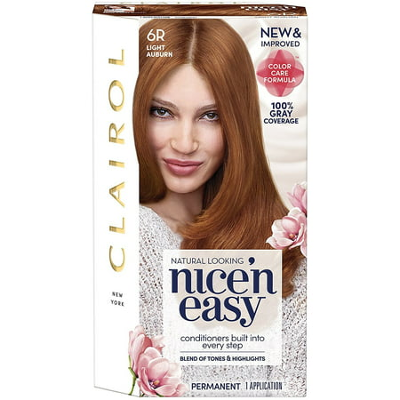 Clairol Nice 'n Easy Permanent Color, 6R  Light Auburn 1 ea Easy Stick Permanent Roll