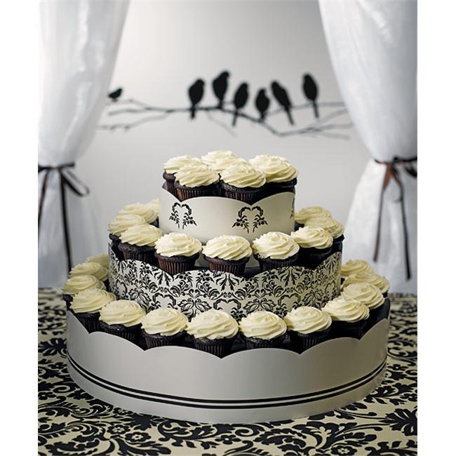 Wedding Star 9149 Grand Display Tower for Cupcakes- Love Bird Damask