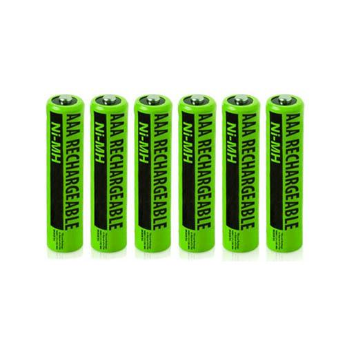 NiMH AAA 6-Pack for Panasonic Replacement Batteries