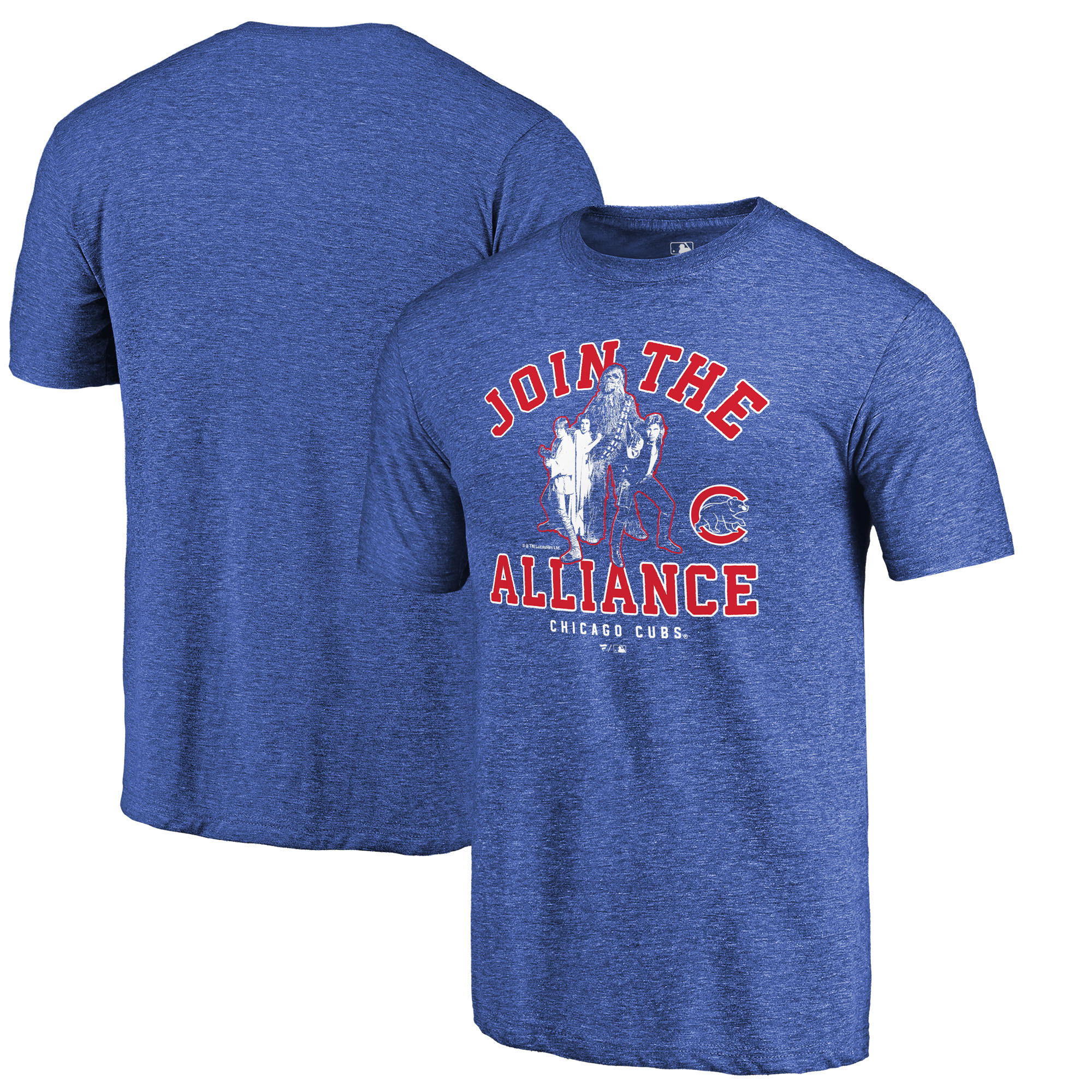 Chicago Cubs Fanatics Branded MLB Star Wars Join The Alliance Tri-Blend T-Shirt - Royal
