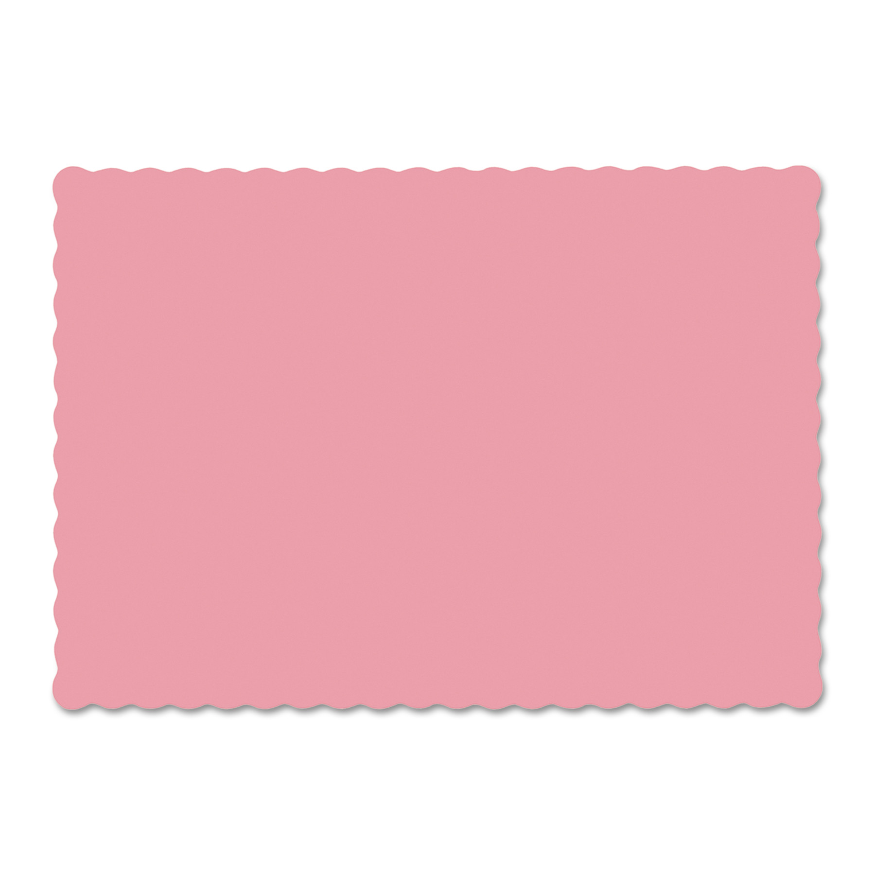 Hoffmaster Dusty Rose Solid Color Scalloped Edge Placemats, 1000 count by Hoffmaster
