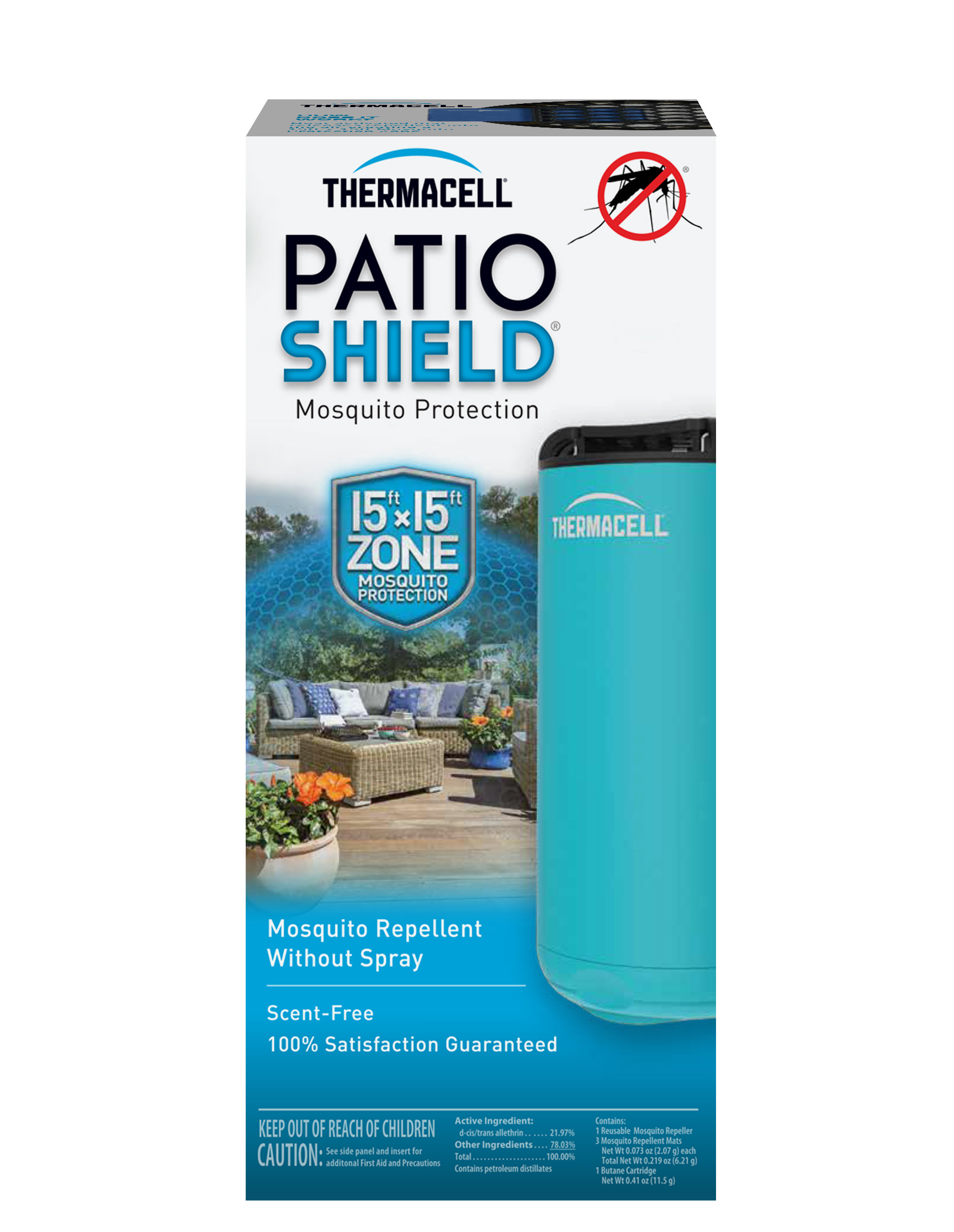 Thermacell Patio Shield Mosquito Repeller, Blue by Thermacell Repellents, Inc.