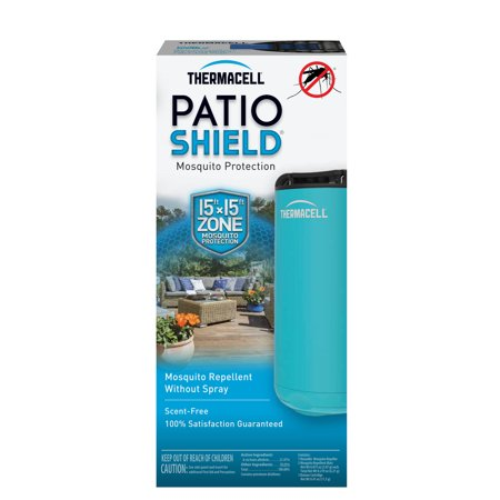 Windproof Water Repellent - Thermacell Patio Shield Mosquito Repeller, Glacial Blue; 12 Hours of Spray-Free Mosquito Repellent