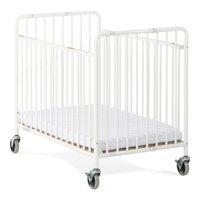 Foundations StowAway Folding Portable Crib with Mattress, White
