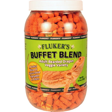 Fluker's Buffet Blend Adult Bearded Dragon Veggie Variety, 4.5 (Best Light For Bearded Dragon)