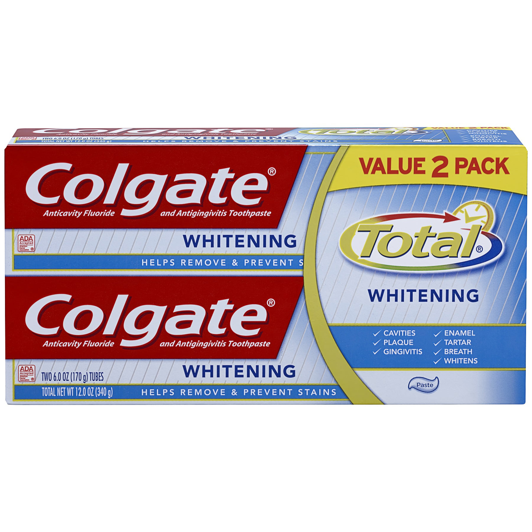 Colgate Total Whitening Paste Toothpaste Twin Pack 12 Ounce