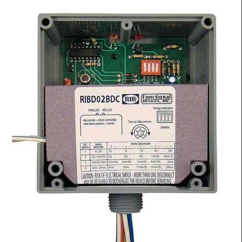 FUNCTIONAL DEVICES INC / RIB RIB02BDC Dry Contact Input Relay, SPDT, 20A@277VAC