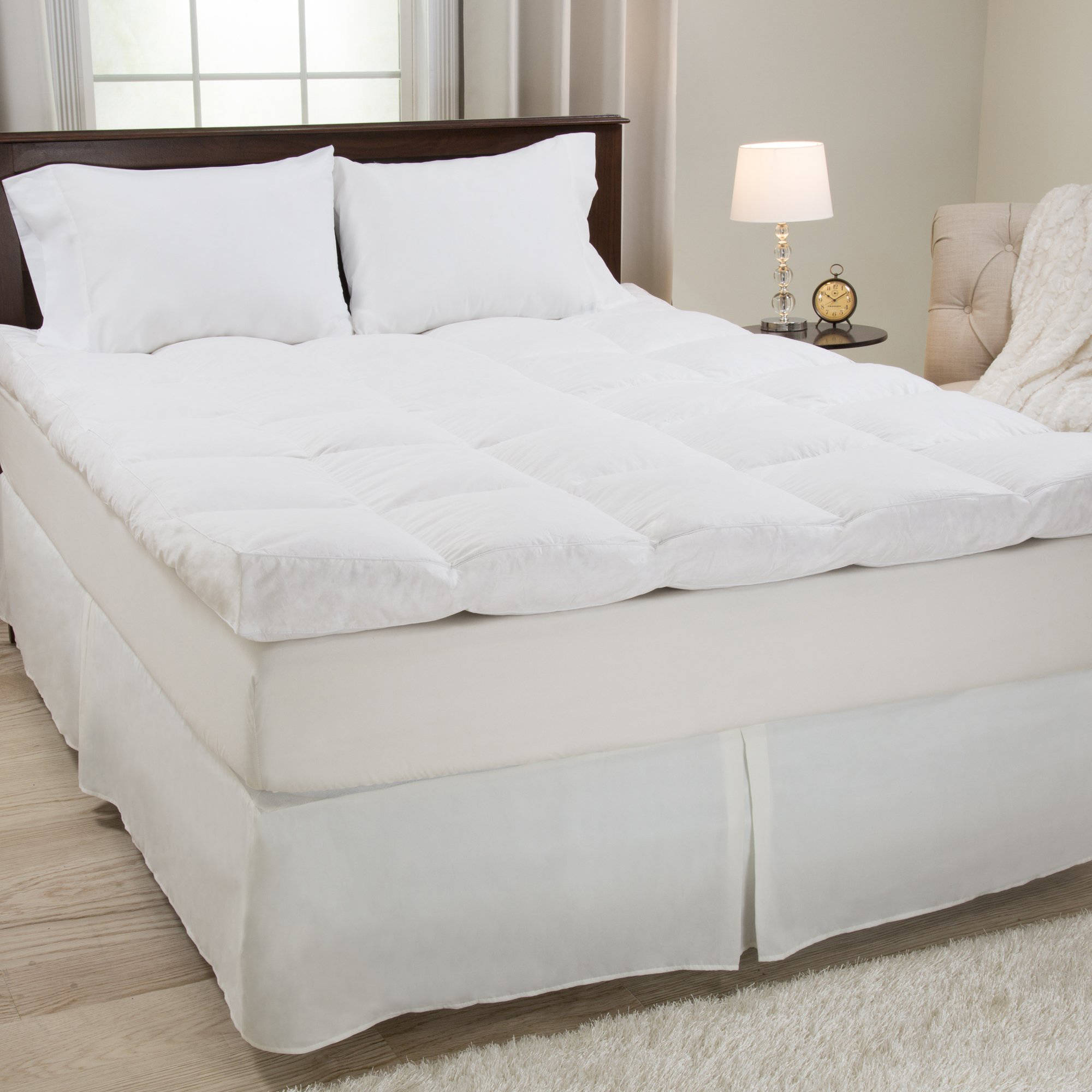 """Somerset Home Down and Duck Feather 4"""" Gusset Topper"""