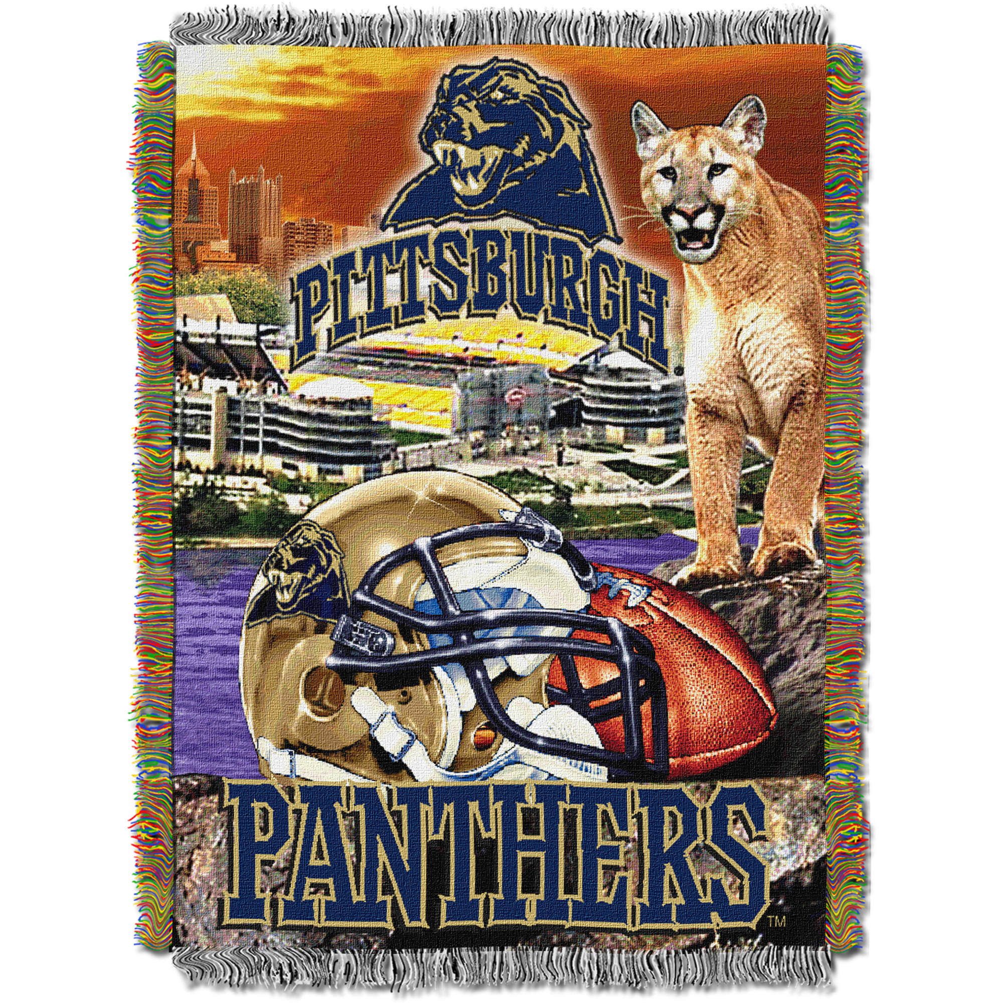 "NCAA 48"" x 60"" Tapestry Throw Home Field Advantage Series- Pittsburgh"