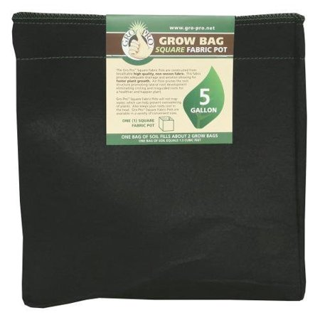 Gro Pro Square Fabric Pot 5 Gallon (50/Cs) 5 Gallon Oak Barrels