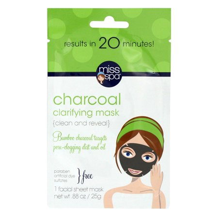 Miss Spa - Facial Sheet Mask Charcoal Clarifying - 1
