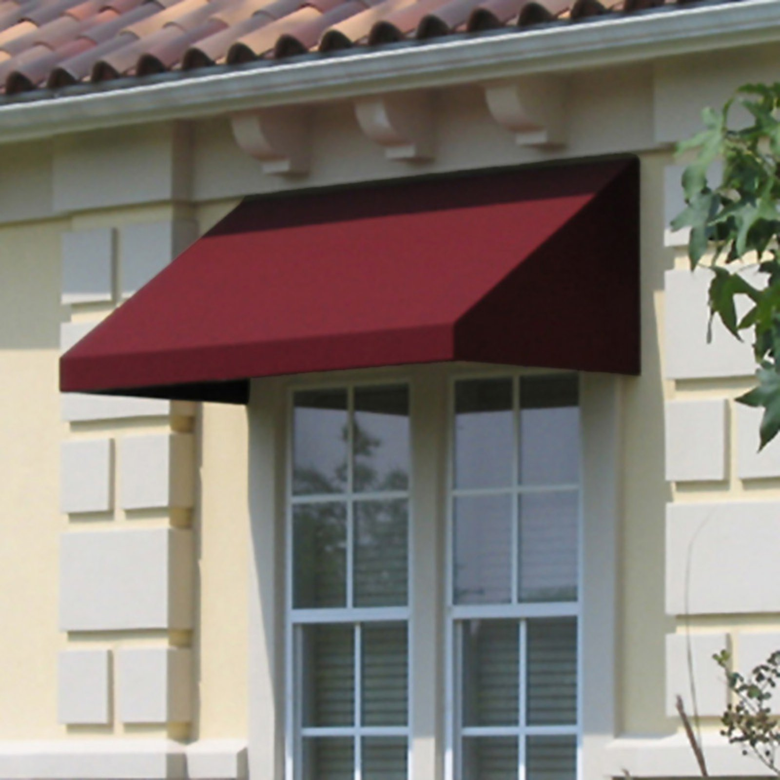 Awntech Beauty-Mark New Yorker 4 ft. Low Eaves Window/Door Awning