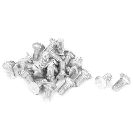 M8 x 16mm Round Cap Head Metal Square Neck Bolts 19mm Length 20 Pcs - image 1 of 1