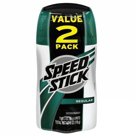 Speed Stick Deodorant for Men, Regular - 3 oz (Twin Pack)