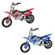 Razor MX350 Dirt Rocket Kids Electric Motocross Motorcycle Bikes, 1 Red & 1 Blue