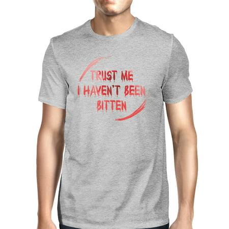 I Haven't Been Bitten Blood Zombie Grey Halloween Tshirts For Men](Zombies For Halloween)