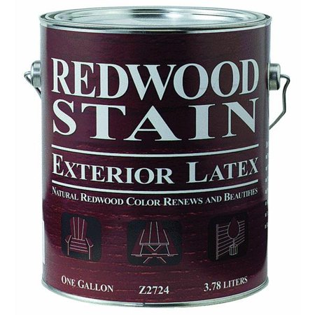 Exterior Latex Redwood Stain Part W55sr0272
