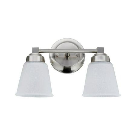 Aspen Creative 62069-1, Two-Light Metal Bathroom Vanity Wall Light Fixture, 13 1/8