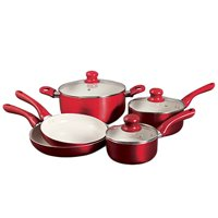 Oster 104369.08 Thorben 8 Piece Cookware Set, Red